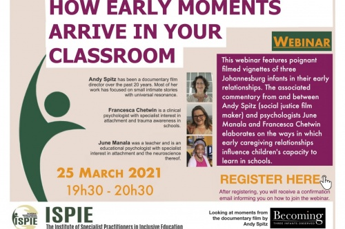 Institute for Specialist Practitioners in Inclusive Education Webinar